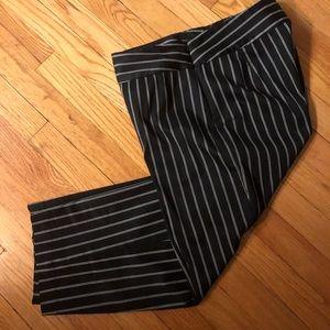 Chico's Black White Stripe Cropped Pants Size 1